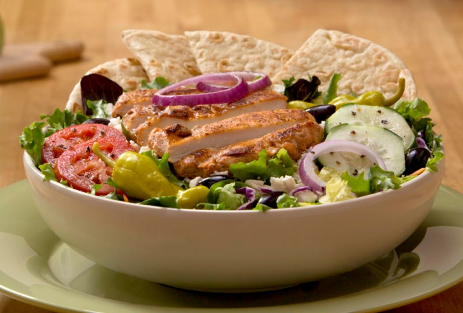 Greek Salad with Grilled Chicken or Gyro