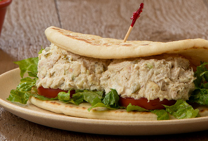 Homemade Chicken Salad Pita