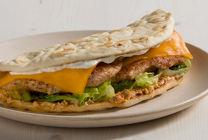Fiery Feta Chicken Pita